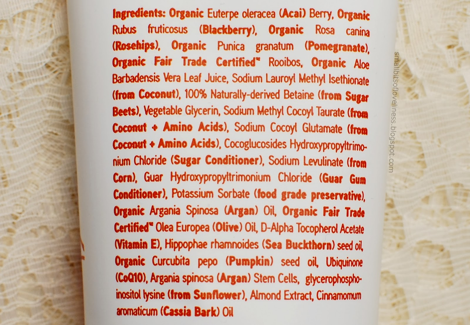 Acure Shampoo Moroccan Argan Stem Cell ingredients