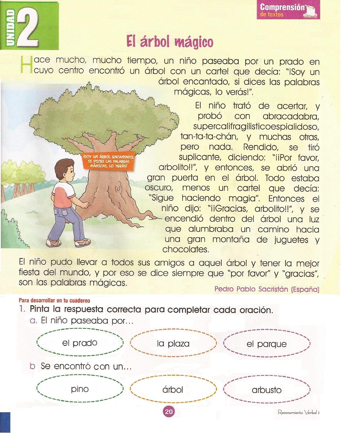 Fichas de Lectura para Imprimir Primero de Primaria | Razonamiento ...