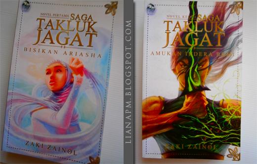 Saga Takluk Jagat Pertama, Saga Takluk Jagat Kedua, Bisikan Ariasha, Amukan Indera Bumi, Zaki Zainol