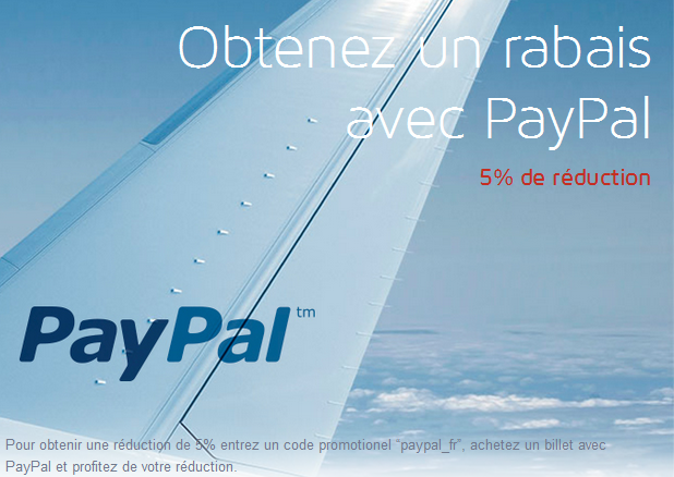 LOT code promo avion Paypal