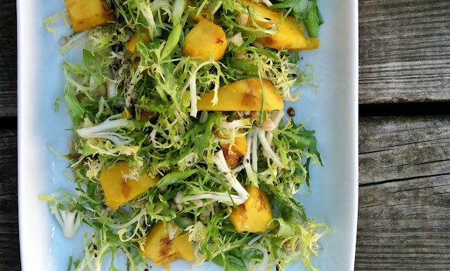 Acorn Squash, Frisée and Barley Salad