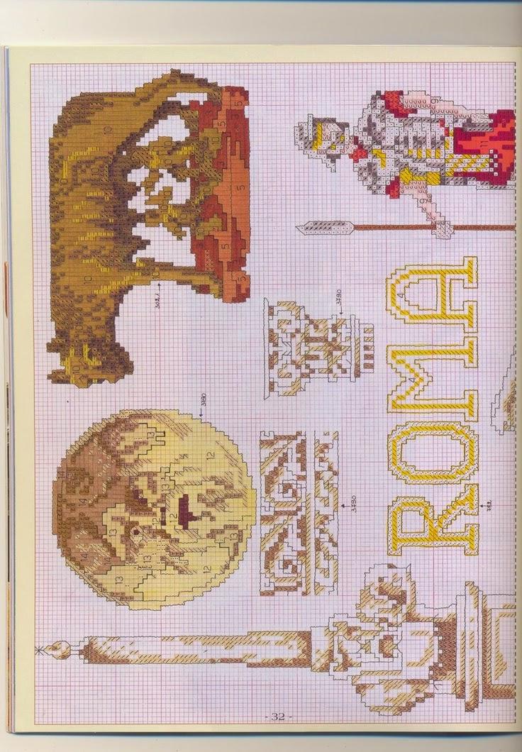 Schema punto croce roma