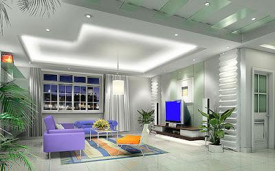 desain plafon gypsum minimalis