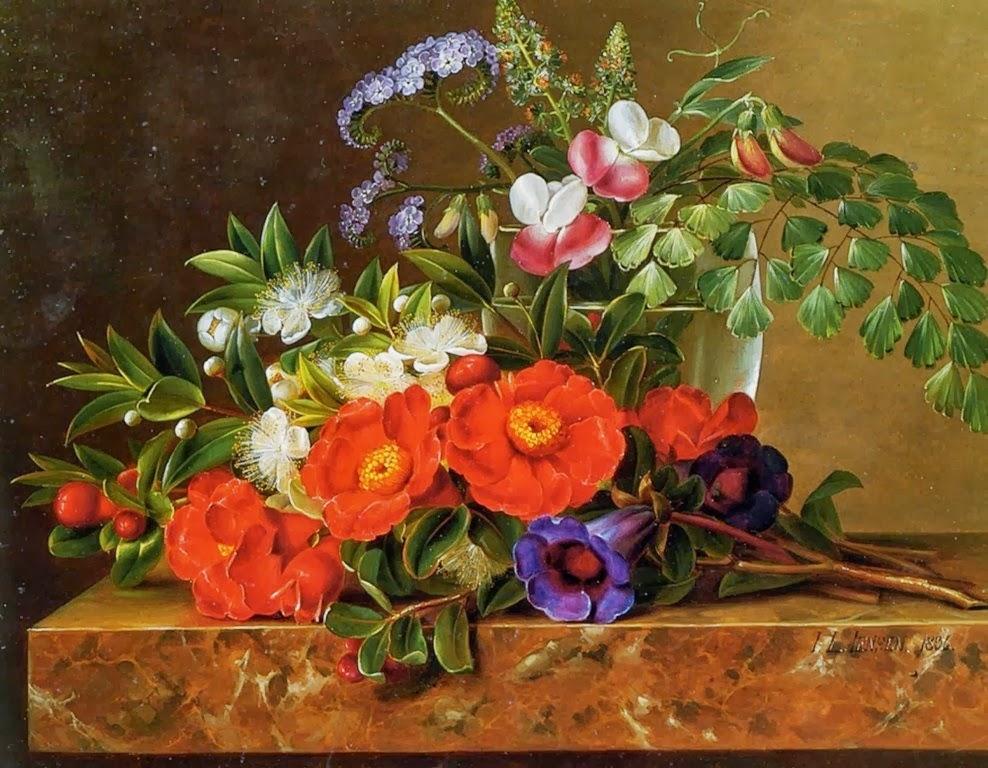 Bodegones Clsicos De Flores Y Frutas De Johan Laurentz