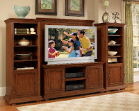 Home Styles Homestead 4 Piece Entertainment Unit Nutmeg Finish