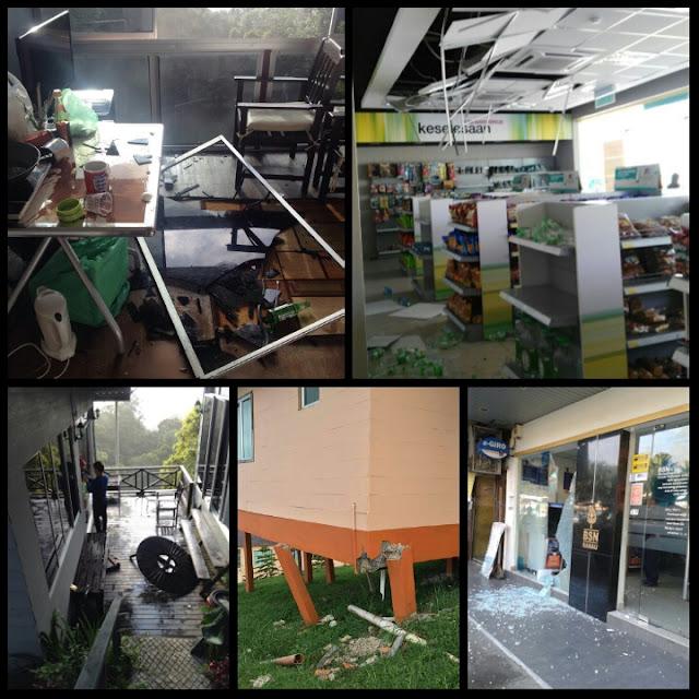 Kundasang, Ranau, Sabah - seminggu selepas gempa