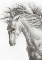 aceo, buy art online, horse aceo