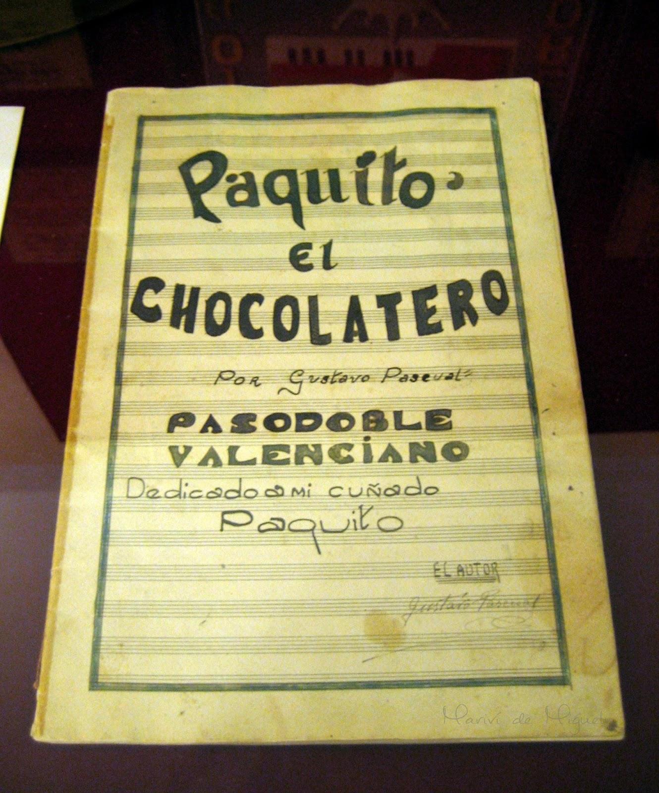 Partirtura original Paquito el Chocolatero