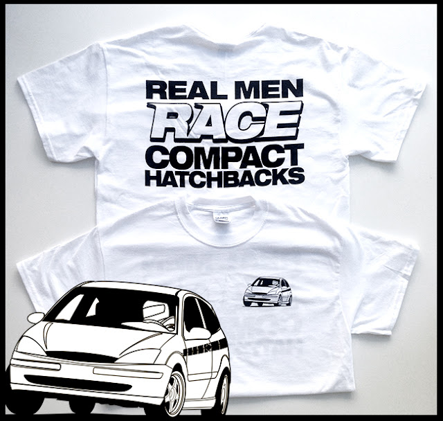 Real Men Race Compact Hatchbacks t-shirt