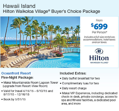 Hawaiian Islands: Hilton Waikoloa Village Buyer's Package for Big Island, Hawaii at Costco