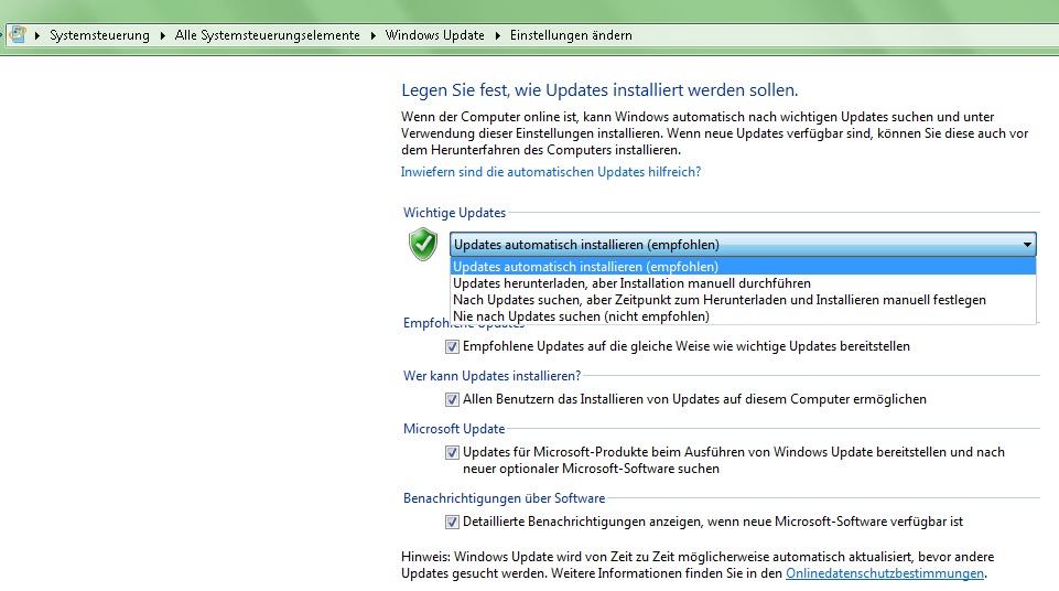 windows 7 updates herunterladen dauert ewig