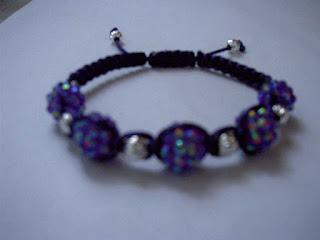 Purple Rhinestone Shamballa Bracelet