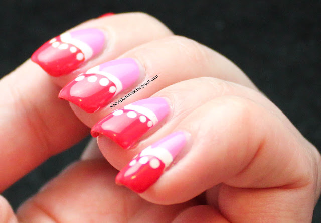 Nails4Dummies Pink Fishtail Mani