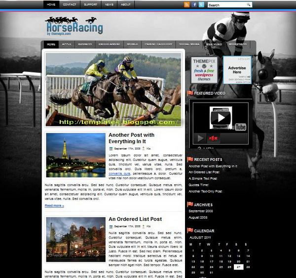 HorseRacing WordPress Theme