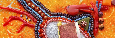 Robin Atkins, bead embroidery, bead journal project, detail