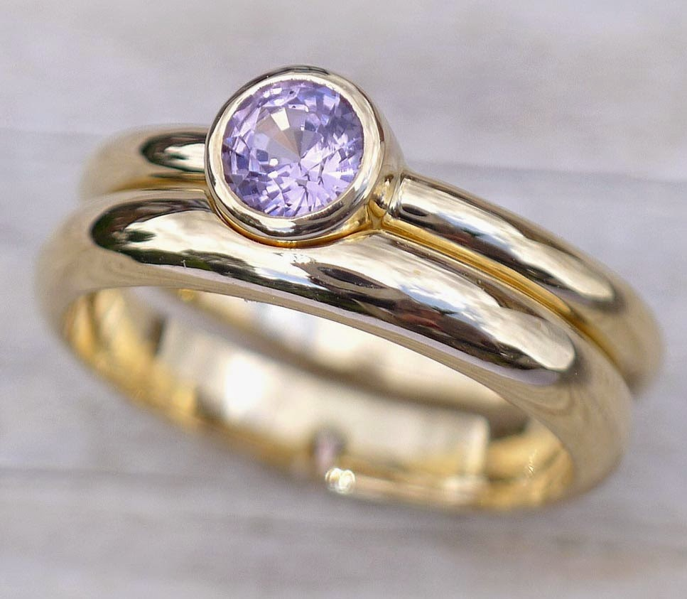 Light Purple Diamond Engagement Rings for His and Her Matching pictures hd