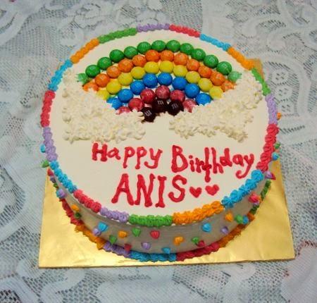 Untuk tempahan : Rainbow cake with Cream Cheese Frosting