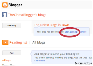 blogger basic fourth step