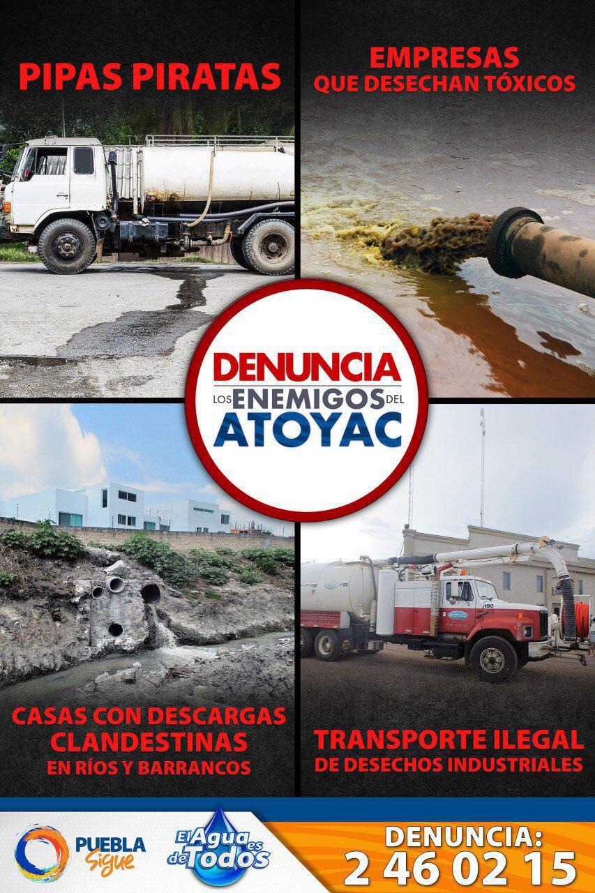 Tony Gali a la defensa del río Atoyac