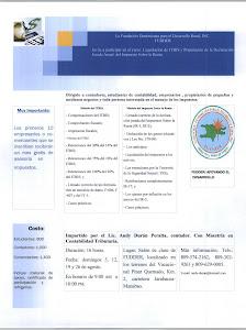Curso: Liquidación de ITBIS y Preparación de la Declaración Jurada Anual  del Impuesto Sobre la Ren
