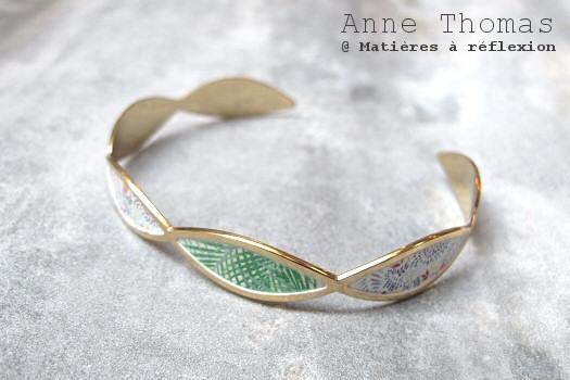 SOLDES Anne Thomas bracelet vert