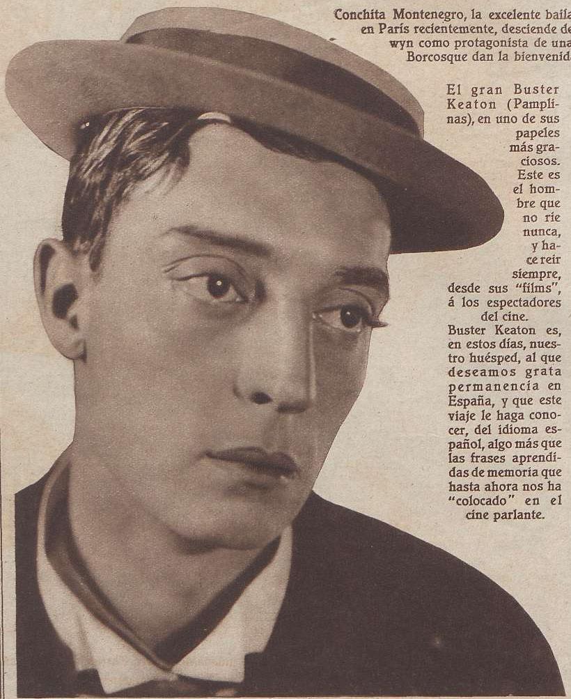 Recorte prensa : Baster Keaton, Pamplinas o Cara de Palo, Madrid, 24 de agosto de 1930