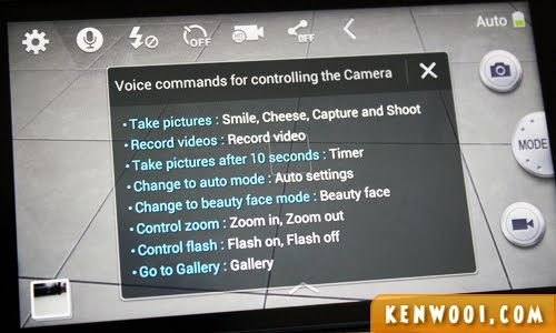 samsung galaxy camera voice