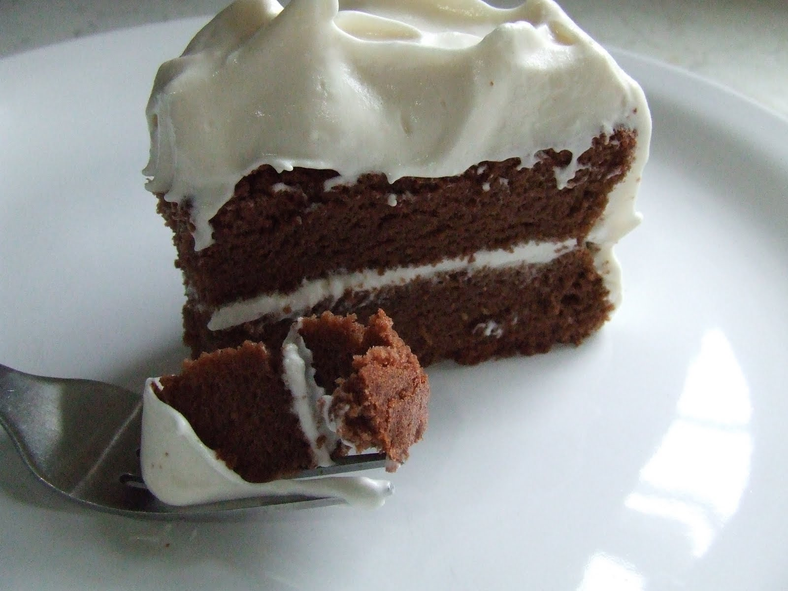 Red Velvet Cake With Fluffy White Frosting Recipe — Dishmaps