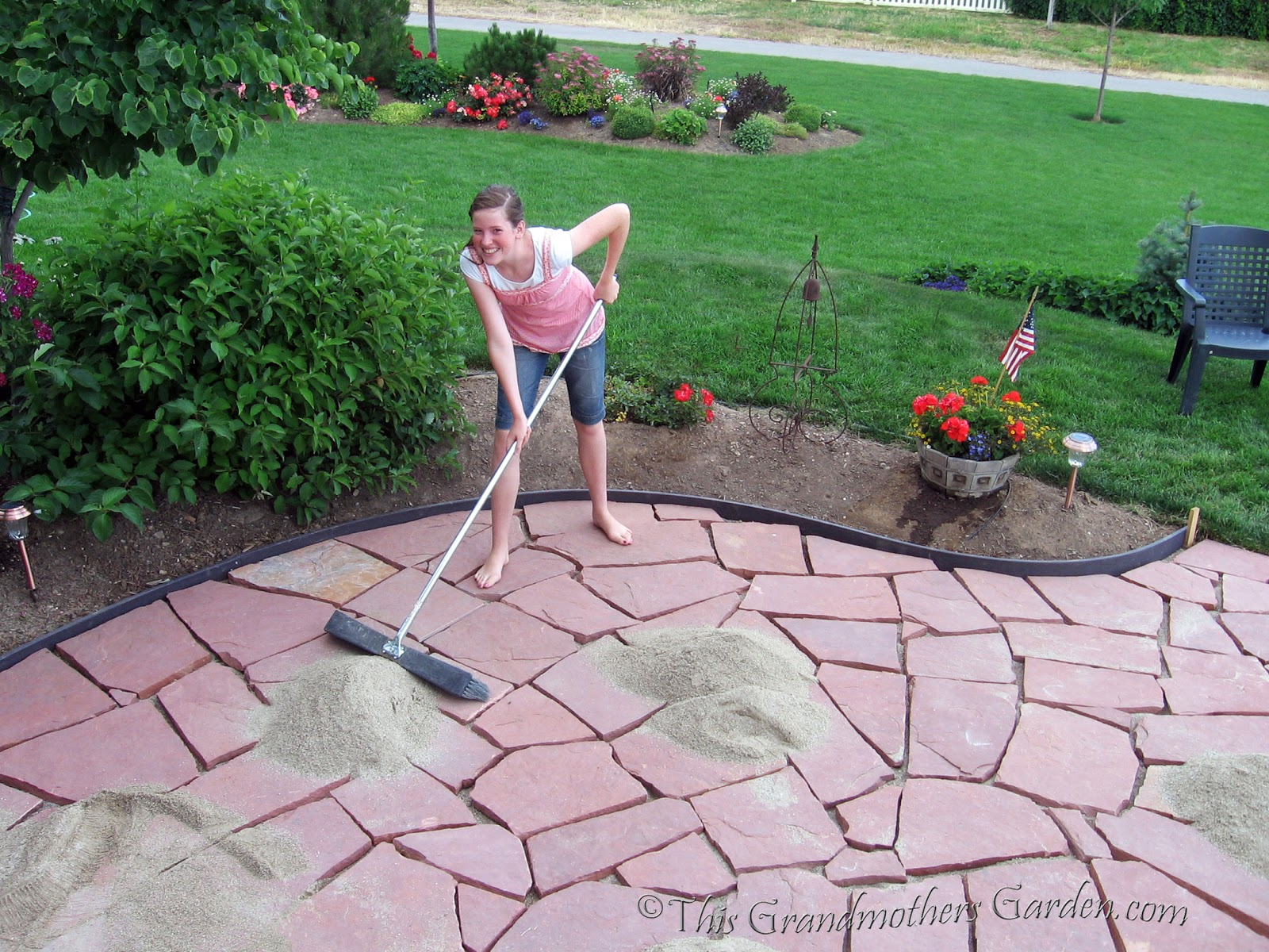 Filling In The Gaps: Part 3 Of Our DIY Flagstone Patio