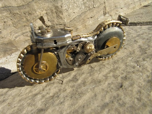 Amazing Miniature Motorcycles Made From Watch Parts