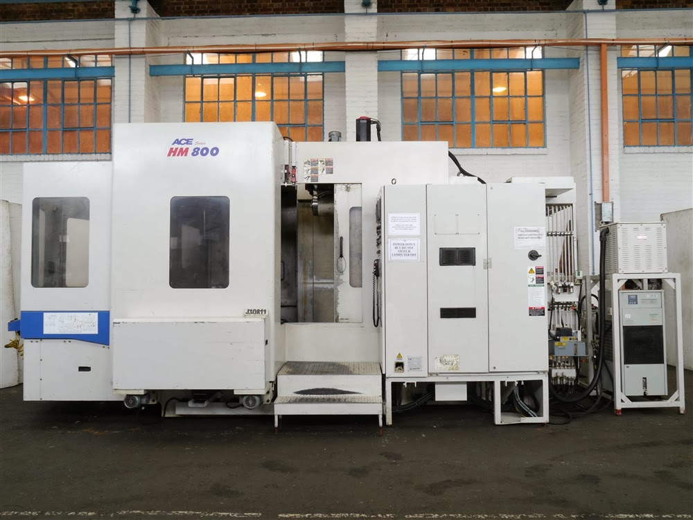 DAEWOO ACE-HM800 800MM X 800MM TWIN PALLET CNC HORIZONTAL MACHINING CENTRE