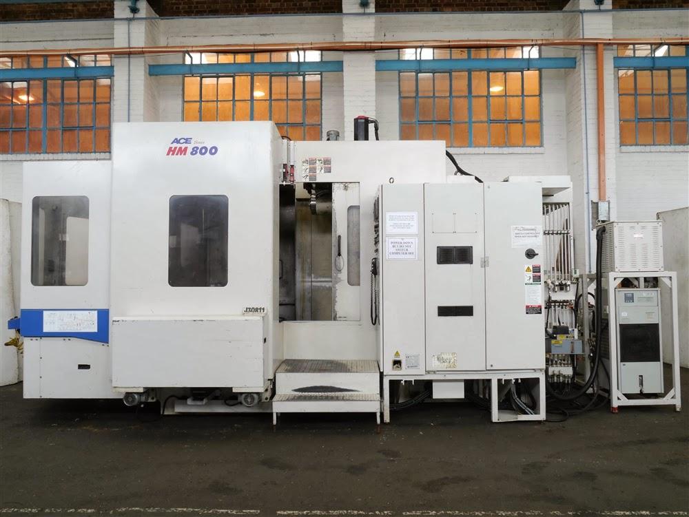 DAEWOO ACE-HM800 800MM X 800MM TWIN PALLET CNC HORIZONTAL MACHINING CENTRE