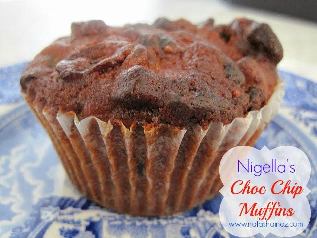 Nigella's Choc Chip Muffins Recipe, Choc chip muffin image,
