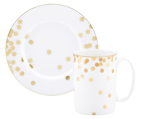 Hello lovely little old lady for Gold polka dot china