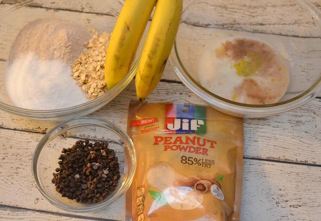 Jif Peanut Powder, Jif Chocolate Peanut Powder, recipes with peanut powder, smoothie recipes with peanut powder, free water trackers, free printable planner stickers, water tracker for planners, healthy muffin recipes, Chocolate Peanut Butter Muffins, Healthy muffins
