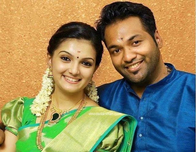Actress Saranya Mohan and  Aravind Krishnan follwong their engagement ceremony