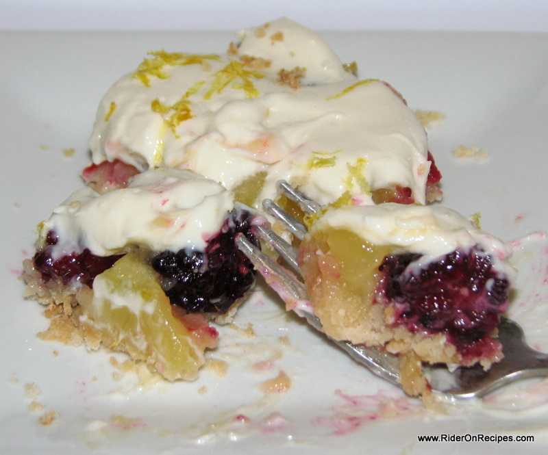 Lemon blackberry bars