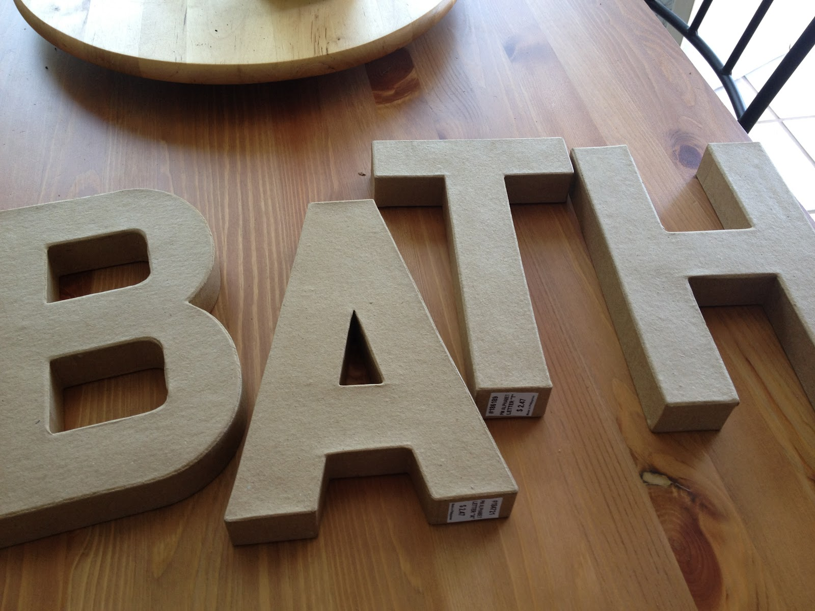 Everyday with the jays who needs anthropologie for 24 cardboard letters