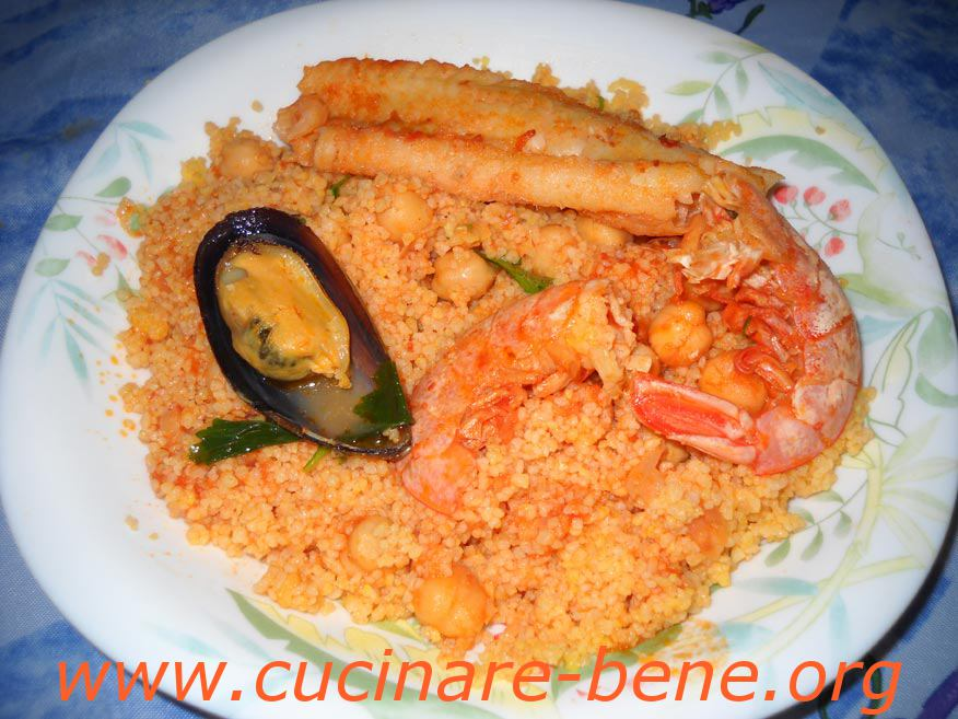 Cous cous di pesce cucinare bene ricette for Cucinare cous cous