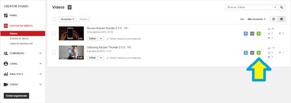 Activar, YouTube, Monetización