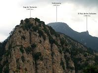 El Cap de Tastanós, el Sobrepuny i el Roc de les Collades des del corriol de la Gotzera