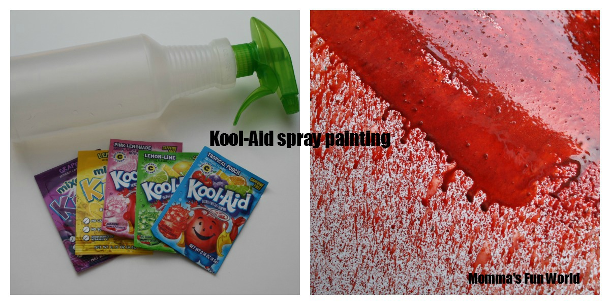 Kool Aid Spray Paint Art