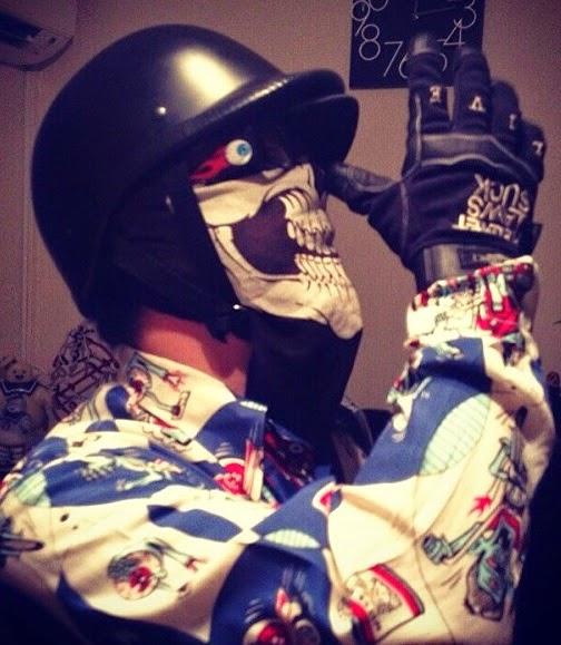 Polo Flat Matte Novelty Motorcycle Helmet