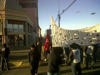 UOM marcha y destrozos en Rio Grande