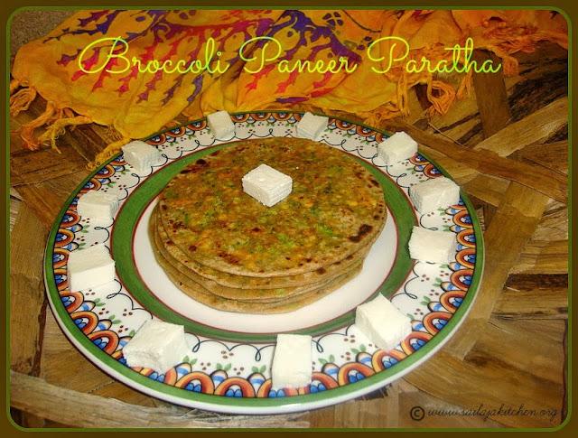 image of Broccoli Paneer Paratha Recipe / Broccoli & Cottage Cheese Parata Recipe/ Broccoli Paneer Stuffed Paratha Recipe