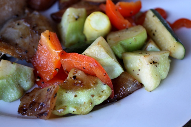 Sauteed Summer Squash with Bell Peppers and Onions recipe by Barefeet In The Kitchen
