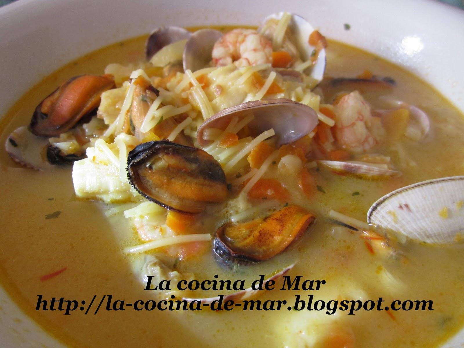 La cocina de mar sopa de pescado y marisco - Cocinar pescado congelado ...