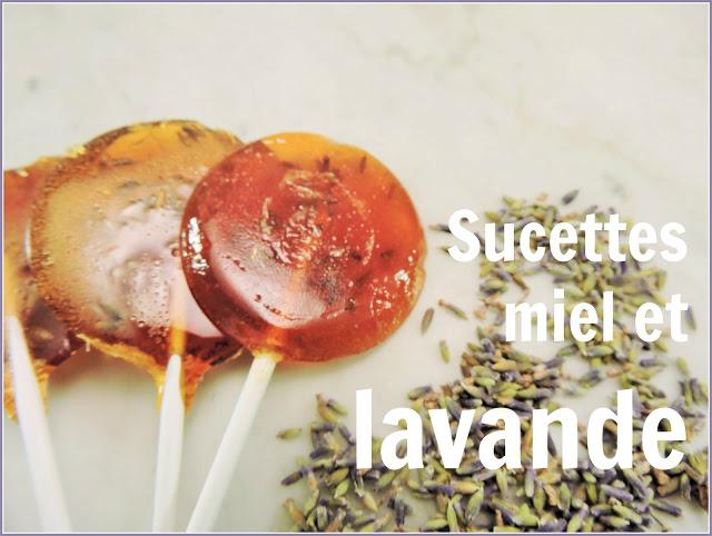recette sucette à la lavande et au miel