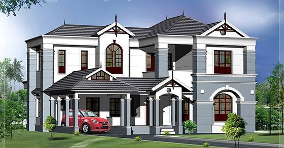 2500 House Elevation Design Kerala Home Design
