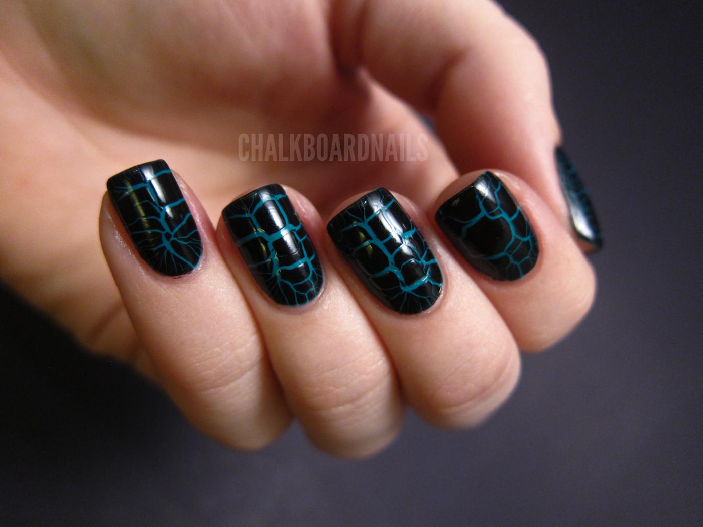 LCN Croco Fever Topcoats | Chalkboard Nails | Nail Art Blog